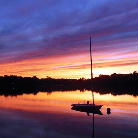Amston lake sunset